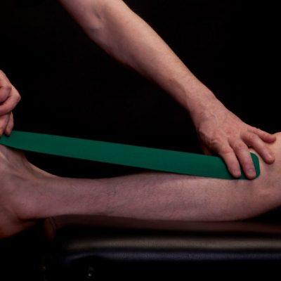 Тейпирование голеностопного сустава часть 1